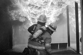 Fire fighters using PPE fabrics